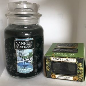 Yankee candle in a winter wonderland tea lights
